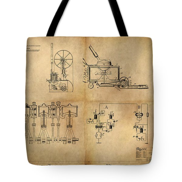 Drive System Assemblies Tote Bag by James Christopher Hill