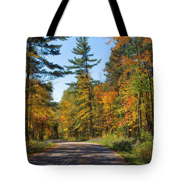 Drive Through Splendor In Minnesota Tote Bag
