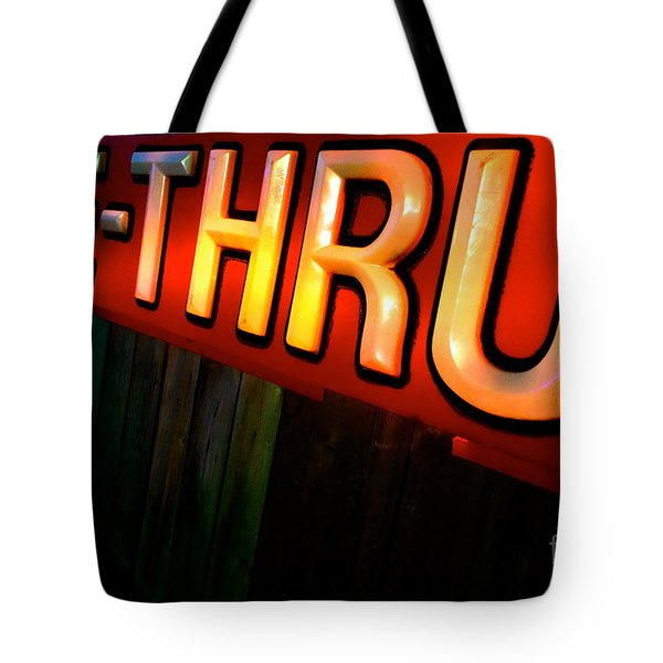 Drive Thru Tote Bag by Jacqueline Athmann
