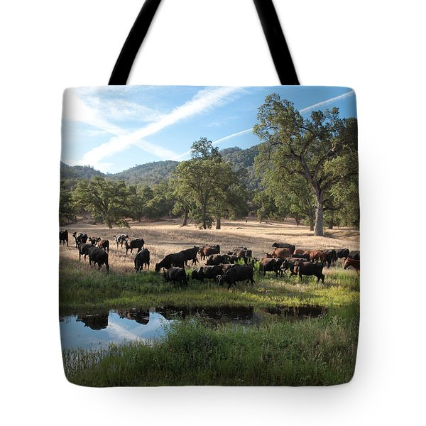 Drivin' Cattle Tote Bag