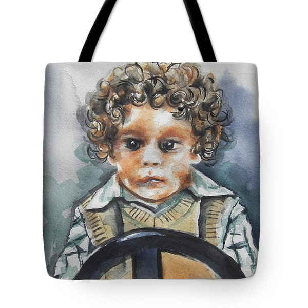Driving The Taxi Tote Bag by Chrisann Ellis