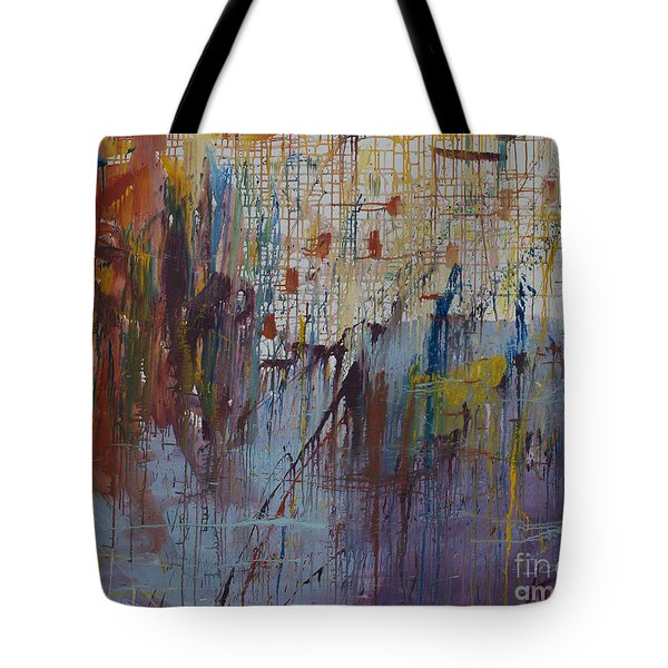 Drizzled Tote Bag