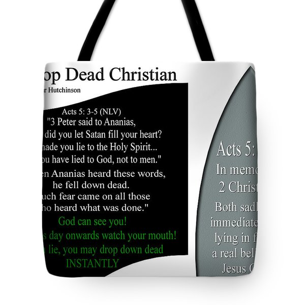 Drop Dead Christian Tote Bag