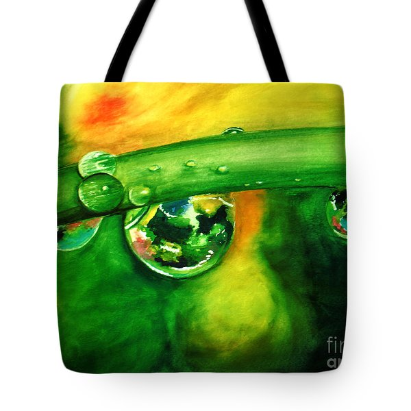 Tote Bag featuring the painting Droplets by Allison Ashton