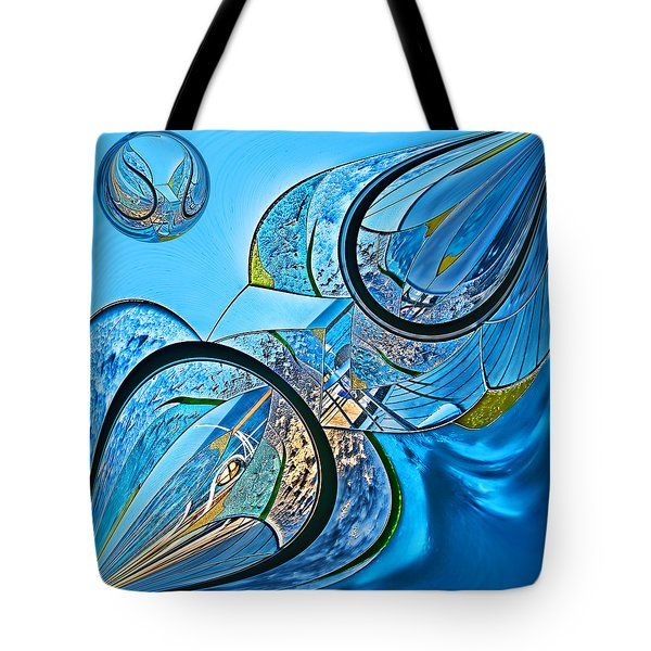 Blue Fantasy Tote Bag