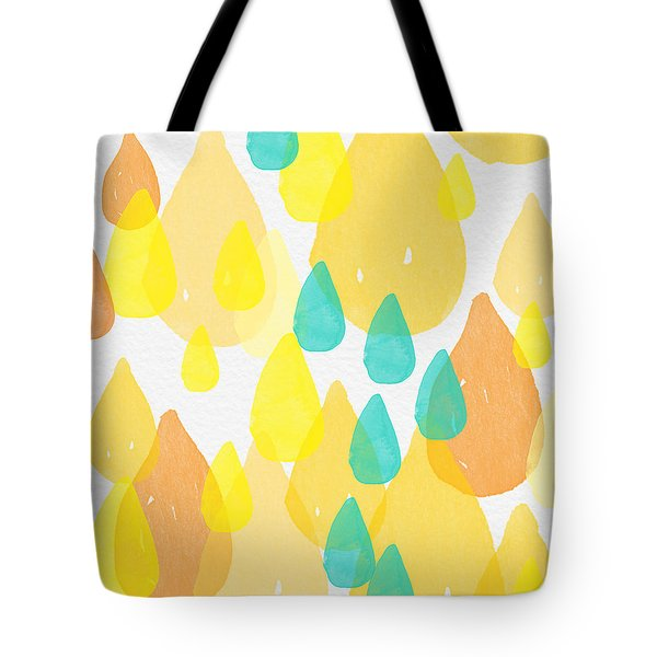 Drops Of Sunshine- Abstract Painting Tote Bag by Linda Woods