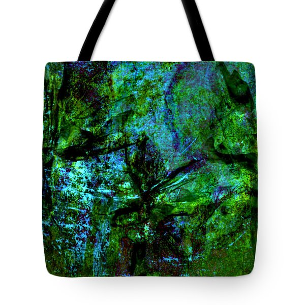 Tote Bag featuring the mixed media Drowning by Ally  White