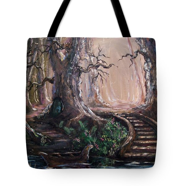 Tote Bag featuring the painting Druid Walk by Megan Walsh