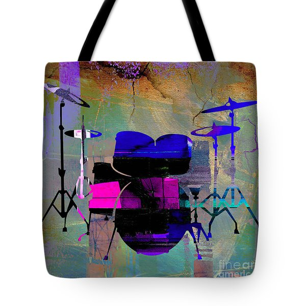 Drum Set Tote Bag