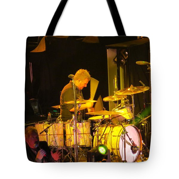 Tote Bag featuring the photograph Drumer For Newsong Rocks Atlanta by Aaron Martens