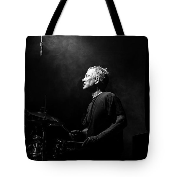 Drummer Portrait Of A Muscian Tote Bag