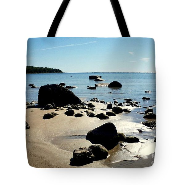 Drummond Shore 2 Tote Bag by Desiree Paquette