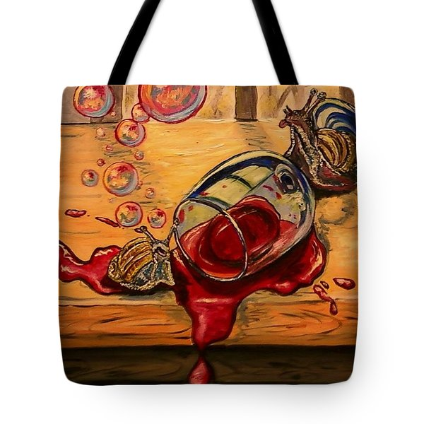 Drunken Snails Tote Bag