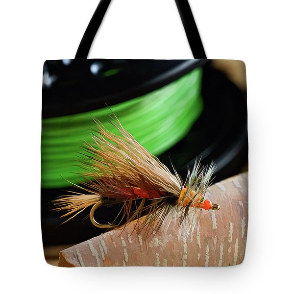 Dry Fly - D003399b Tote Bag by Daniel Dempster