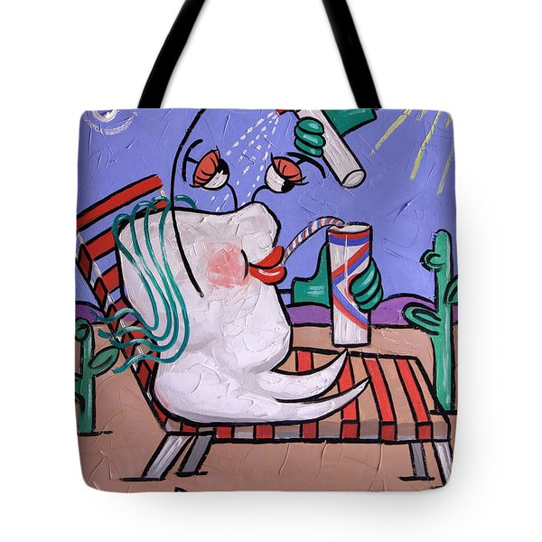 Tote Bag featuring the painting Dry Tooth Dental Art By Anthony Falbo by Anthony Falbo