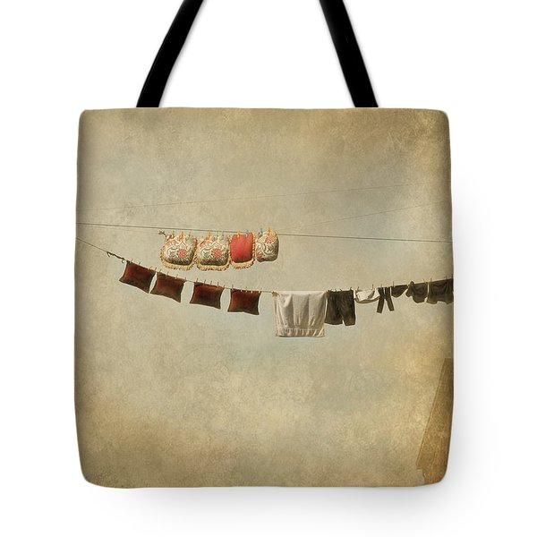 Drying Tote Bag by Jeff Burgess