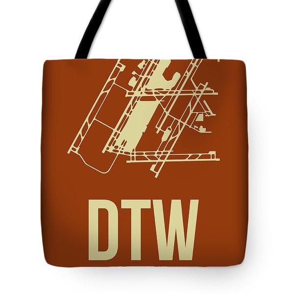 Dtw Detroit Airport Poster 2 Tote Bag