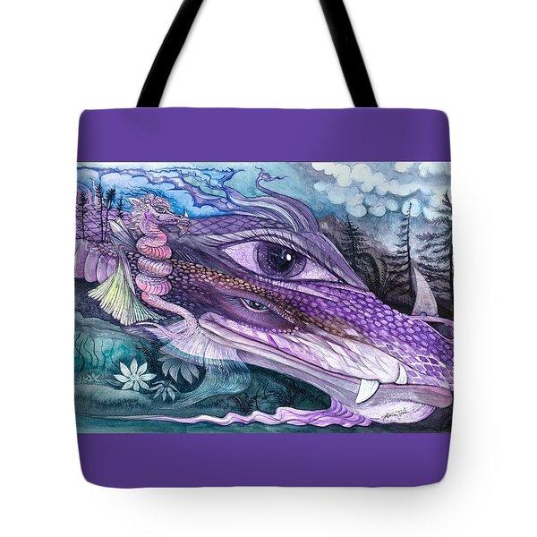 Dual Dragons Tote Bag by Adria Trail