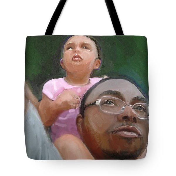 Tote Bag featuring the painting Duane by Vannetta Ferguson