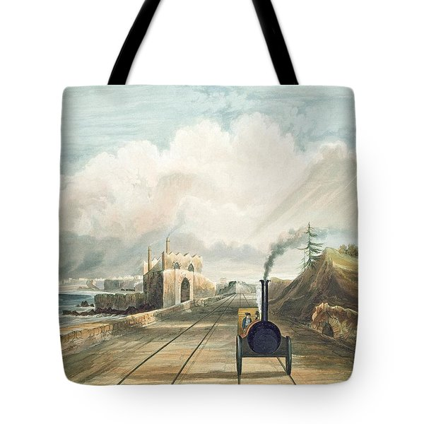 Dublin And Kingstown Railway From Tote Bag