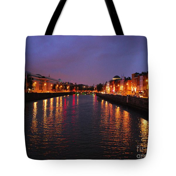 Dublin Nights Tote Bag by Mary Carol Story