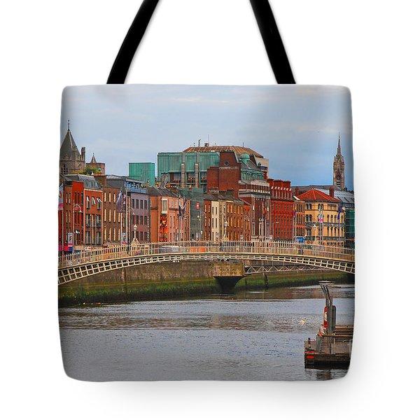 Dublin On The River Liffey Tote Bag