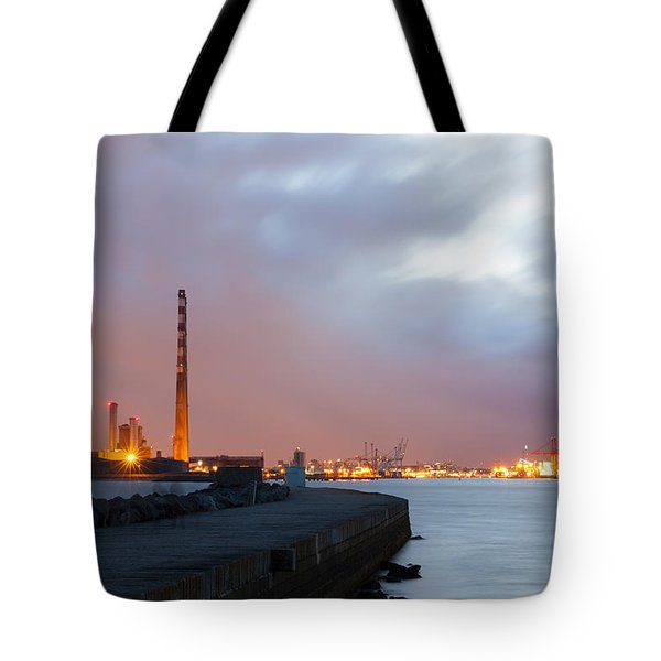 Dublin Port At Night Tote Bag