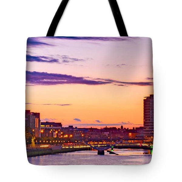 Dublin Skyline At Dusk / Dublin Tote Bag