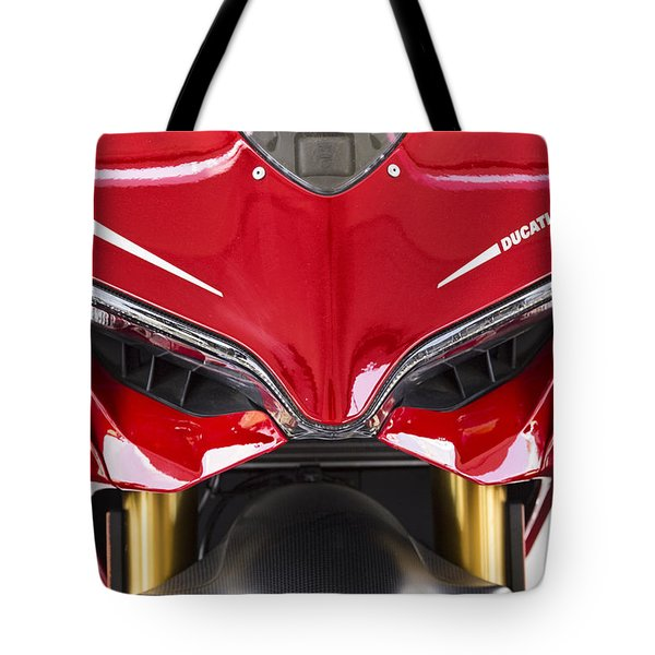 Ducati-unplugged V11 Tote Bag by Douglas Barnard
