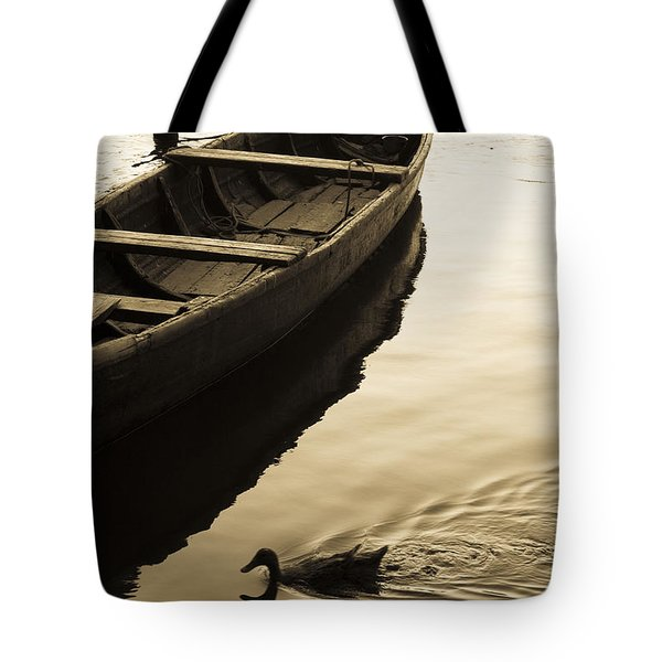 Duck And Boat Tote Bag