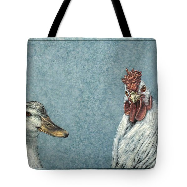 Duck Chicken Tote Bag by James W Johnson