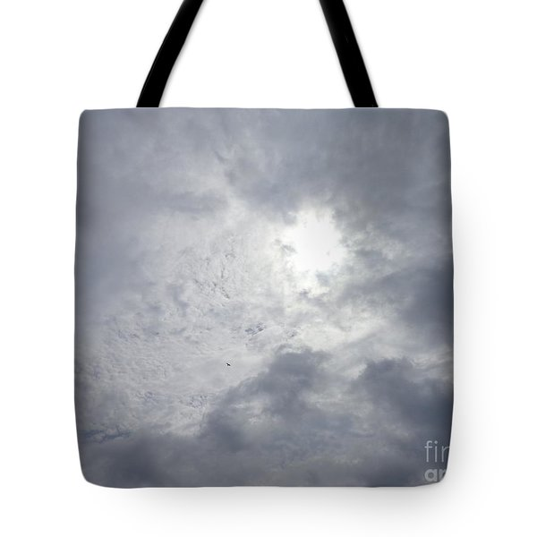 Duck In Beautiful Sky Tote Bag by Christina Verdgeline