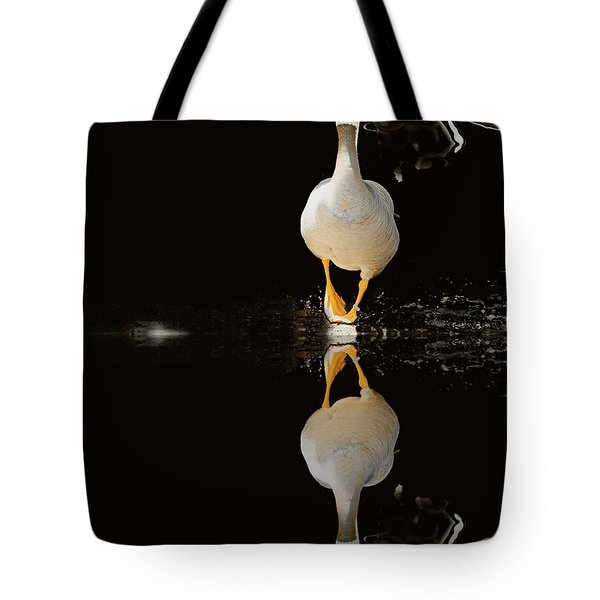 Duck On Stage Tote Bag by Christine Sponchia