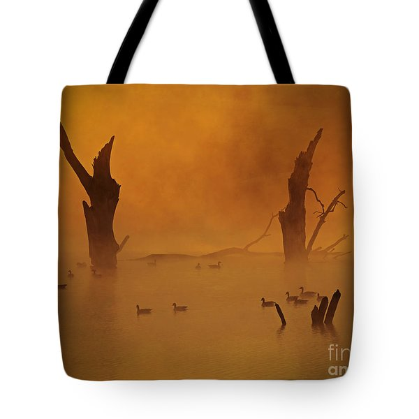 Duck Pond Tote Bag by Elizabeth Winter