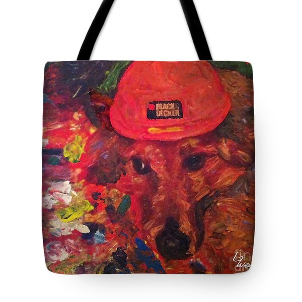 Tote Bag featuring the painting Alameda Radar  by Linda Weinstock