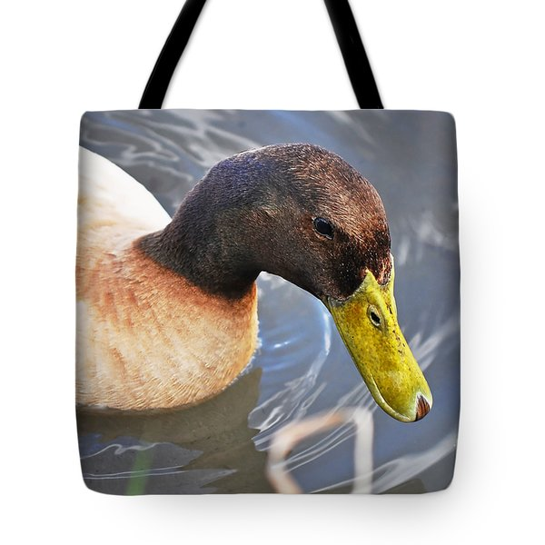 Duck With Greenish-yellow Bill Tote Bag