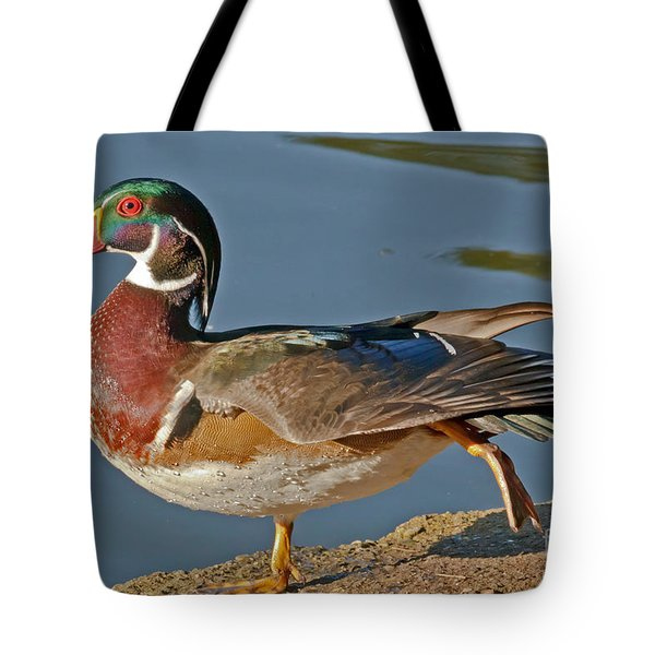 Tote Bag featuring the photograph Duck Yoga by Kate Brown
