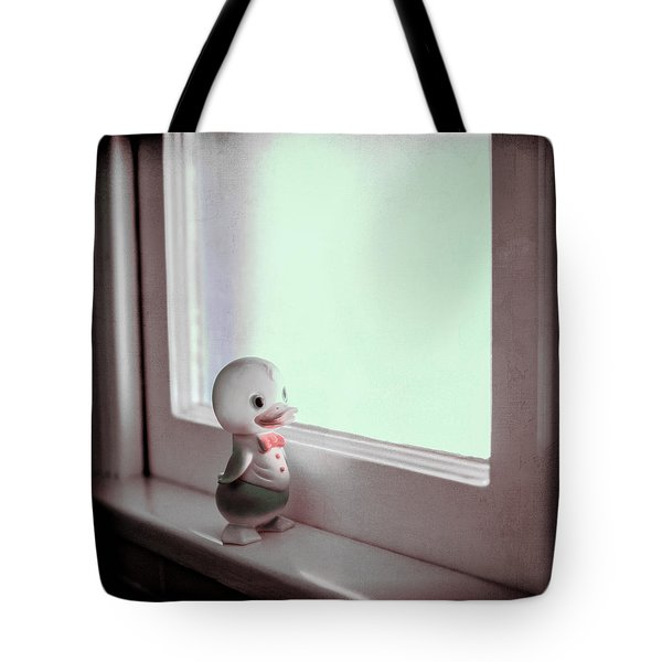 Duckie At The Window Tote Bag