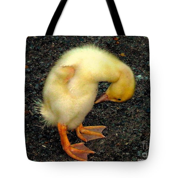 Duckling Takes A Bow Tote Bag
