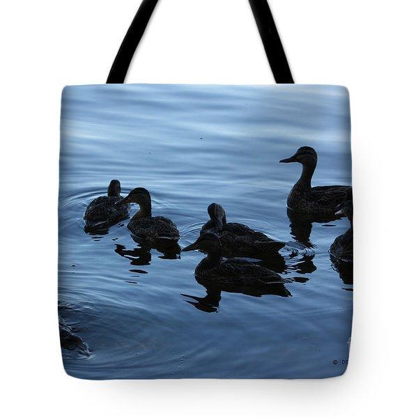 Ducks At Dusk Tote Bag