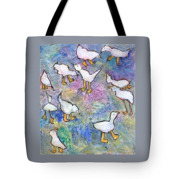 Ducks Tote Bag by Catherine Redmayne