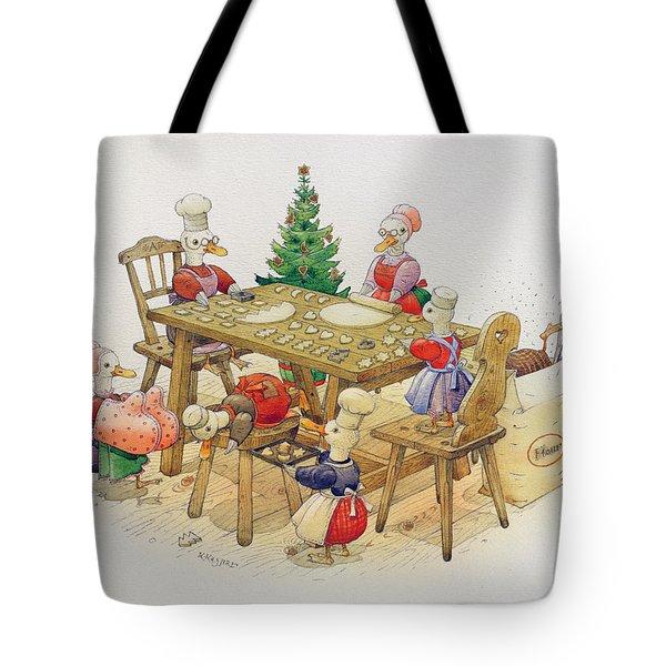 Ducks Christmas Tote Bag