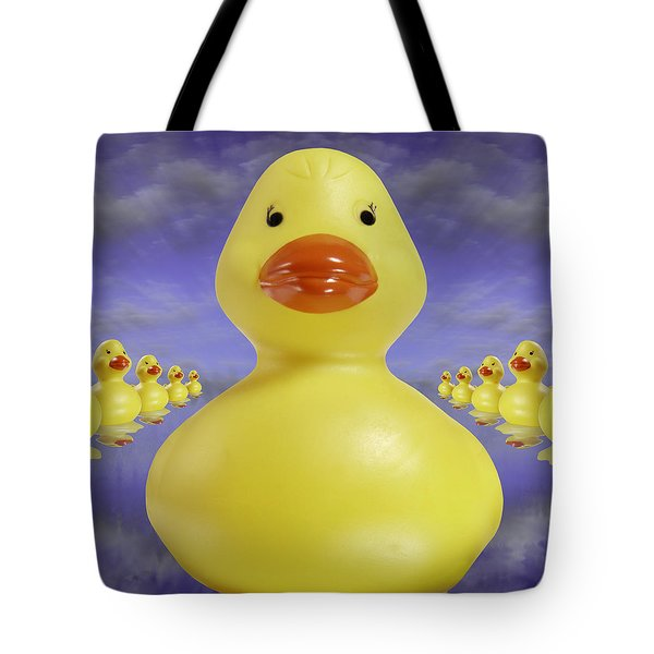 Ducks In A Row 3 Tote Bag by Mike McGlothlen