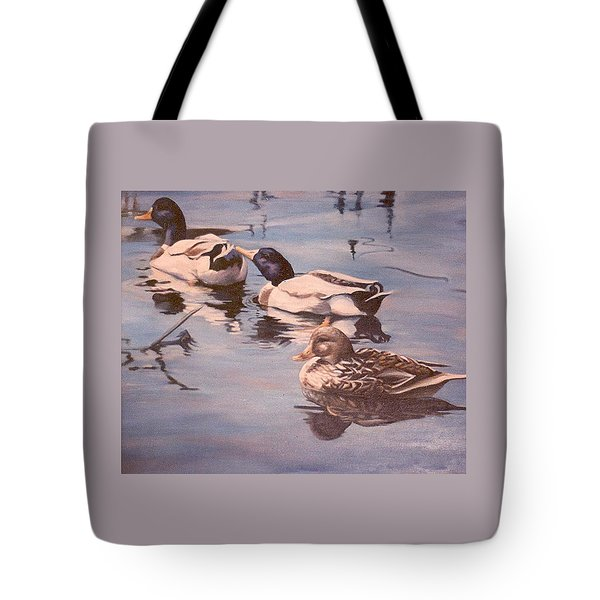 Ducks On The Cachuma Tote Bag