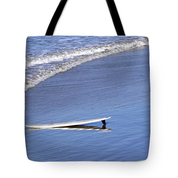 Dude Where Is My Surfer Tote Bag by Kathy Churchman