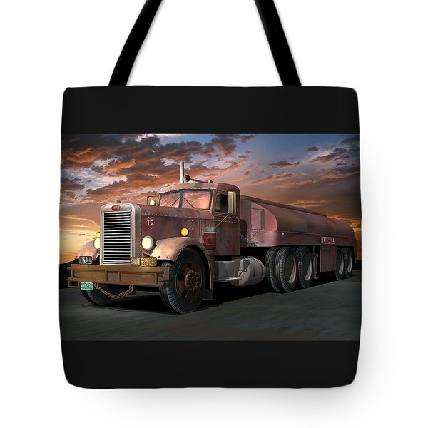 Duel Truck With Trailer Tote Bag