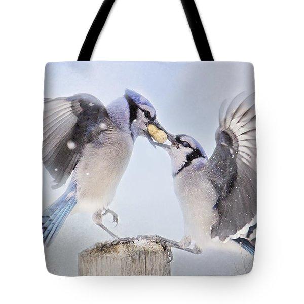 Dueling Jays Tote Bag