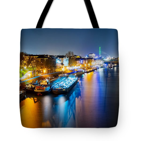 Duisburg Rhine East Bank Dammst Tote Bag