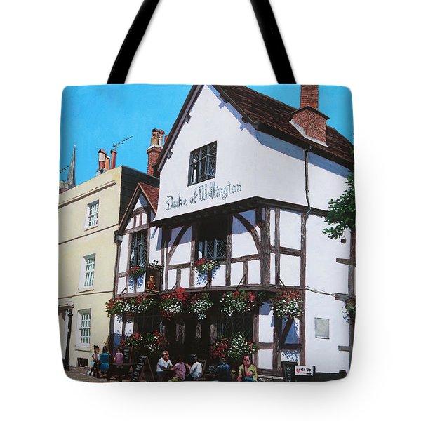 Duke Of Wellington Tudor Pub Southampton Tote Bag by Martin Davey