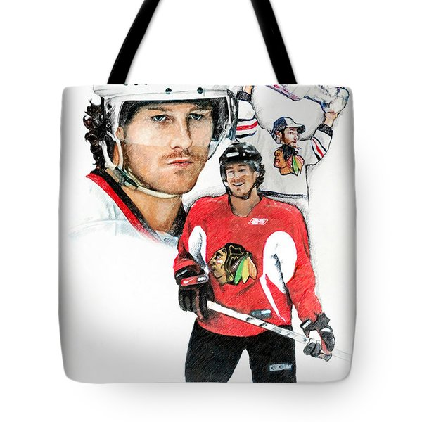 Duncan Keith Tote Bag by Jerry Tibstra